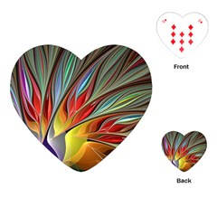 Fractal Bird Of Paradise Playing Cards (heart)