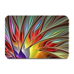 Fractal Bird Of Paradise Plate Mat by WolfepawFractals