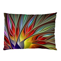Fractal Bird Of Paradise Pillow Case by WolfepawFractals