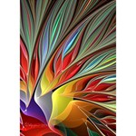 Fractal Bird of Paradise Circle Bottom 3D Greeting Card (7x5) Inside