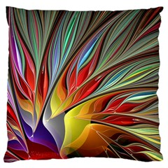 Fractal Bird Of Paradise Large Cushion Case (one Side) by WolfepawFractals