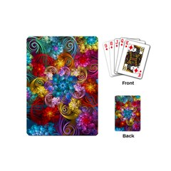 Spirals And Curlicues Playing Cards (mini)