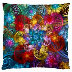 Spirals And Curlicues Standard Flano Cushion Case (one Side) by WolfepawFractals