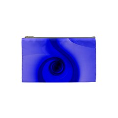 Blue Spiral Note Cosmetic Bag (small)  by CrypticFragmentsDesign