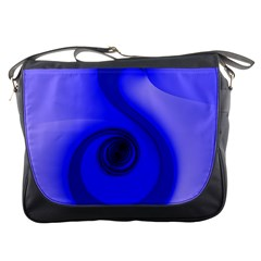 Blue Spiral Note Messenger Bags by CrypticFragmentsDesign