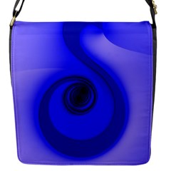 Blue Spiral Note Flap Messenger Bag (s) by CrypticFragmentsDesign