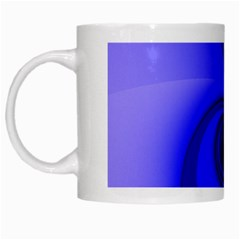 Blue Spiral Note White Mugs by CrypticFragmentsDesign