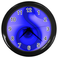 Blue Spiral Note Wall Clocks (black) by CrypticFragmentsDesign