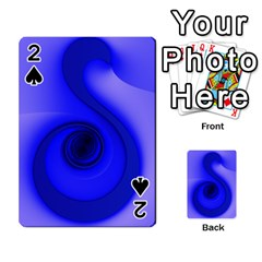 Blue Spiral Note Playing Cards 54 Designs  by CrypticFragmentsDesign