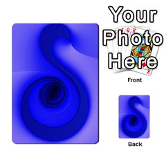 Blue Spiral Note Multi Purpose Cards (rectangle)  by CrypticFragmentsDesign