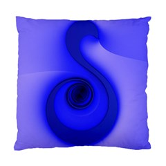Blue Spiral Note Standard Cushion Case (one Side) by CrypticFragmentsDesign