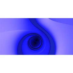 Blue Spiral Note You Are Invited 3d Greeting Card (8x4)