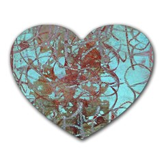 Urban Graffiti Grunge Look Heart Mousepads by CrypticFragmentsDesign