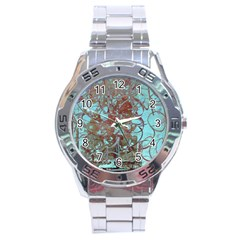 Urban Graffiti Grunge Look Stainless Steel Analogue Watch by CrypticFragmentsDesign