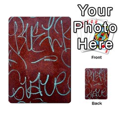 Urban Graffiti Rust Grunge Texture Background Multi Purpose Cards (rectangle)  by CrypticFragmentsDesign