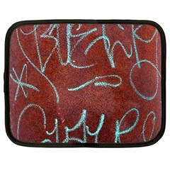 Urban Graffiti Rust Grunge Texture Background Netbook Case (large) by CrypticFragmentsDesign