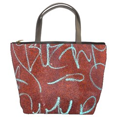 Urban Graffiti Rust Grunge Texture Background Bucket Bags by CrypticFragmentsDesign