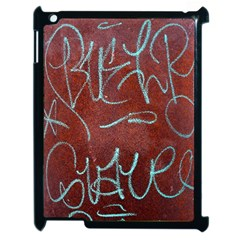 Urban Graffiti Rust Grunge Texture Background Apple Ipad 2 Case (black) by CrypticFragmentsDesign