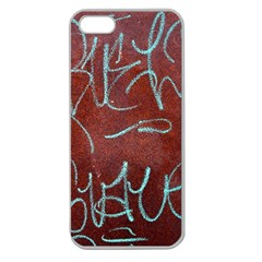 Urban Graffiti Rust Grunge Texture Background Apple Seamless Iphone 5 Case (clear) by CrypticFragmentsDesign