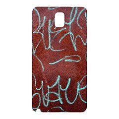 Urban Graffiti Rust Grunge Texture Background Samsung Galaxy Note 3 N9005 Hardshell Back Case by CrypticFragmentsDesign