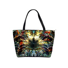Metallic Abstract Flower Copper Patina Shoulder Handbags by CrypticFragmentsDesign