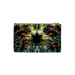 Metallic Abstract Flower Copper Patina Cosmetic Bag (Small)  Back