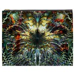 Metallic Abstract Flower Copper Patina Cosmetic Bag (XXXL)  Front