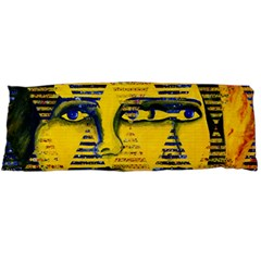 Conundrum Ii, Abstract Golden & Sapphire Goddess Body Pillow Case (dakimakura)