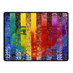 Conundrum I, Abstract Rainbow Woman Goddess  Fleece Blanket (small) by DianeClancy
