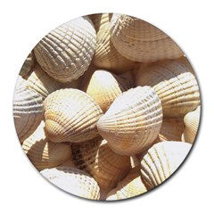 Tropical Exotic Sea Shells Round Mousepads