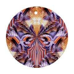 Fire Goddess Abstract Modern Digital Art  Ornament (round)  by CrypticFragmentsDesign