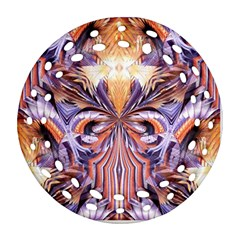 Fire Goddess Abstract Modern Digital Art  Round Filigree Ornament (2side) by CrypticFragmentsDesign