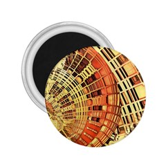 Semi Circles Abstract Geometric Modern Art Orange 2 25  Magnets by CrypticFragmentsDesign