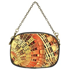 Semi Circles Abstract Geometric Modern Art Orange Chain Purses (two Sides)  by CrypticFragmentsDesign