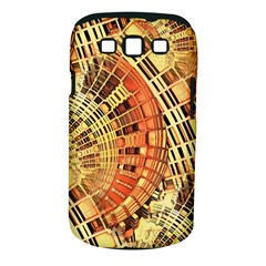 Semi Circles Abstract Geometric Modern Art Orange Samsung Galaxy S Iii Classic Hardshell Case (pc+silicone) by CrypticFragmentsDesign