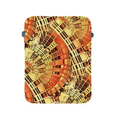 Semi Circles Abstract Geometric Modern Art Orange Apple Ipad 2/3/4 Protective Soft Cases by CrypticFragmentsDesign