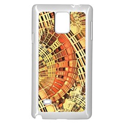 Semi Circles Abstract Geometric Modern Art Orange Samsung Galaxy Note 4 Case (white) by CrypticFragmentsDesign