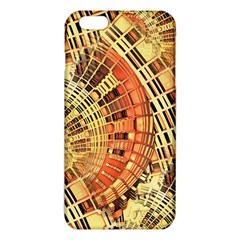 Semi Circles Abstract Geometric Modern Art Orange Iphone 6 Plus/6s Plus Tpu Case by CrypticFragmentsDesign