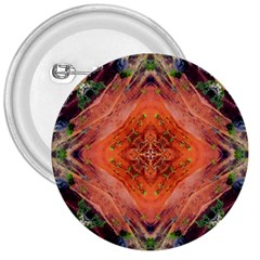 Boho Bohemian Hippie Floral Abstract Faded  3  Buttons by CrypticFragmentsDesign