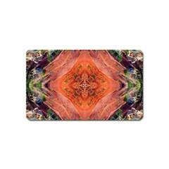 Boho Bohemian Hippie Floral Abstract Faded  Magnet (name Card) by CrypticFragmentsDesign