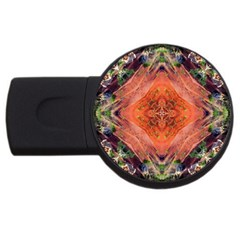 Boho Bohemian Hippie Floral Abstract Faded  Usb Flash Drive Round (2 Gb)  by CrypticFragmentsDesign
