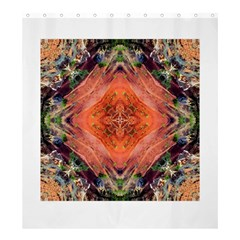 Boho Bohemian Hippie Floral Abstract Faded  Shower Curtain 66  X 72  (large)  by CrypticFragmentsDesign