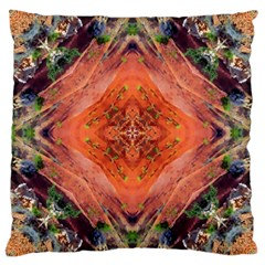 Boho Bohemian Hippie Floral Abstract Faded  Large Cushion Case (one Side) by CrypticFragmentsDesign