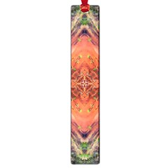 Boho Bohemian Hippie Floral Abstract Faded  Large Book Marks by CrypticFragmentsDesign