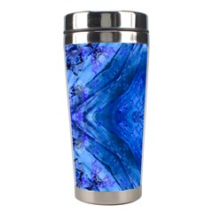 Boho Bohemian Hippie Tie Dye Cobalt Stainless Steel Travel Tumblers by CrypticFragmentsDesign
