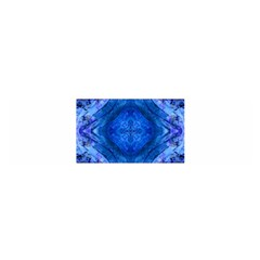 Boho Bohemian Hippie Tie Dye Cobalt Satin Scarf (oblong) by CrypticFragmentsDesign