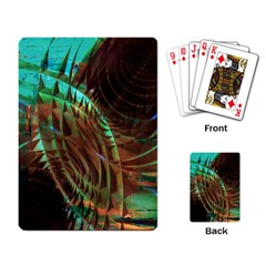 Metallic Abstract Copper Patina  Playing Card by CrypticFragmentsDesign