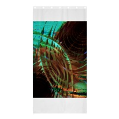 Metallic Abstract Copper Patina  Shower Curtain 36  X 72  (stall)  by CrypticFragmentsDesign