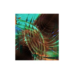 Metallic Abstract Copper Patina  Shower Curtain 48  X 72  (small)  by CrypticFragmentsDesign