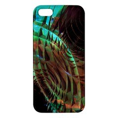 Metallic Abstract Copper Patina  Apple Iphone 5 Premium Hardshell Case by CrypticFragmentsDesign